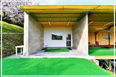 岡山県倉敷市の「ひろえの森」ゴルフ練習場 VIP打席を完備